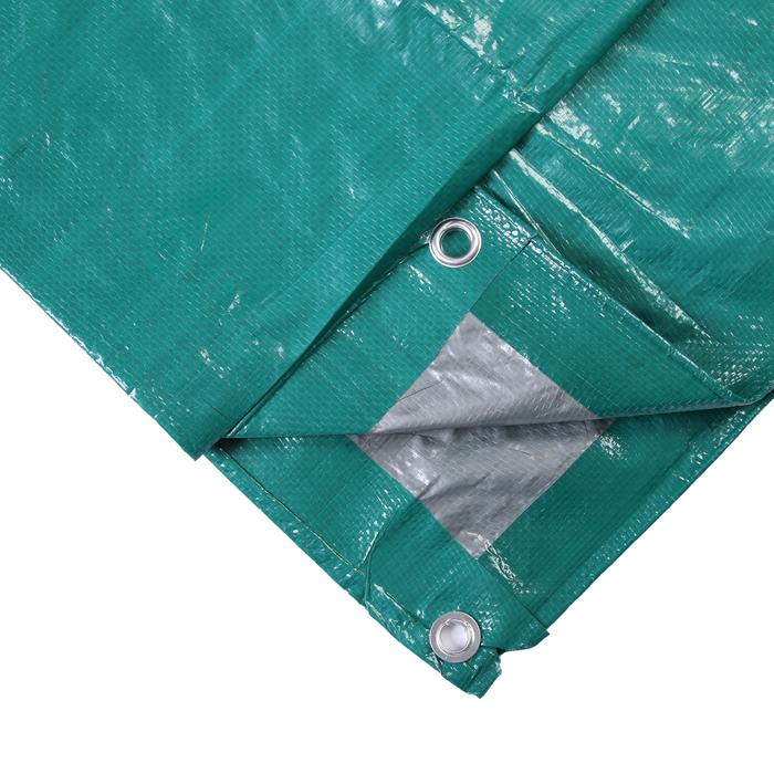 Тент защитный, 5 × 6 м, плотность 120 г/м², люверсы шаг 1 м, тарпаулин, УФ, зелёный