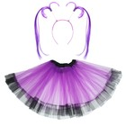 Карнавальный набор «Девочка», 2 предмета: юбка, ободок, цвет фиолетовый - фото 105446263