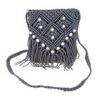 сумочка женская Вязка ромбы 15*18см с ремешком