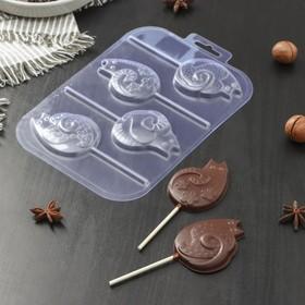 Форма для шоколада «Котятки на палочке»