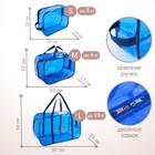 Набор сумок в роддом, 3 шт., цветной ПВХ, цвет синий - фото 105543139