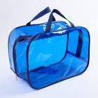 Набор сумок в роддом, 3 шт., цветной ПВХ, цвет синий - фото 105543140