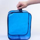 Набор сумок в роддом, 3 шт., цветной ПВХ, цвет синий - фото 105543142