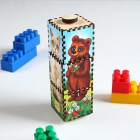 """Вращающиеся кубики """"Собери животное"""", цветные"""