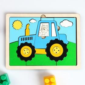 """Пазл """"Трактор"""", краска на в/о"""
