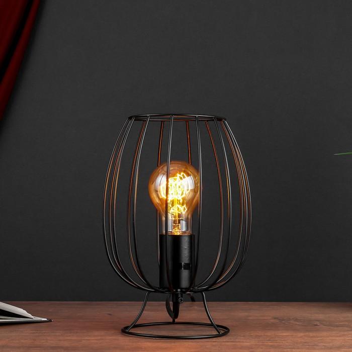 Настольная лампа 2604 1хE27 60Вт черный - фото 7931762