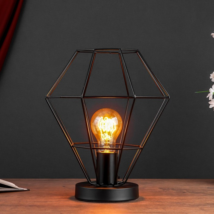 Настольная лампа 4604 1хE27 60Вт черный - фото 7931772