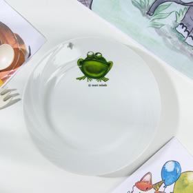 Тарелка мелкая Добрушский фарфоровый завод «Лягушка», d=17,5 см