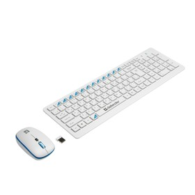 Комплект клавиатура и мышь Defender Skyline 895 RU, беспровод, мембран, 2000 dpi, USB, белый