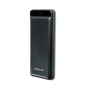 Внешний аккумулятор Defender ExtraLife 15000F, 15000 мАч, 2 USB, 2.1 A, серый