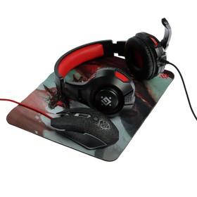 Игровой набор Defender DragonBorn MHP-003, мышь+гарнитура+ковер, проводной, 3200 dpi