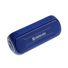Портативная колонка Defender Enjoy S1000, 20 Вт, Bluetooth 4.2, 2000 мАч, подсветка, синяя