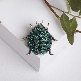 "Brooch ""Bug"", the color green in gold"