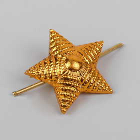 Star is 20 mm on the shoulder straps, the color gold