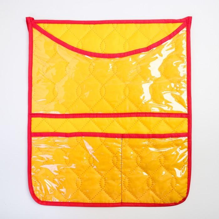 Органайзер на кроватку,размер 47*55,оксфорд,чтежка,цв.желтый - фото 105549690