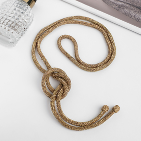 """Beads """"Thread"""" glitter of the night, 60cm, color gold"""
