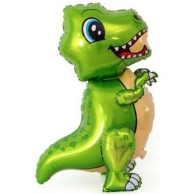 """Шар фольгированный 30"""" «Маленький динозавр», ходячий, цвет зелёный"""