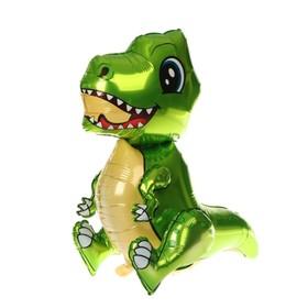 """Шар фольгированный 30"""" «Маленький динозавр», ходячий, цвет зелёный - фото 7314704"""