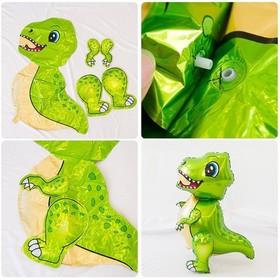 """Шар фольгированный 30"""" «Маленький динозавр», ходячий, цвет зелёный - фото 7314705"""