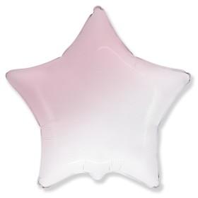 """Шар фольгированный 32"""" «Градиент», звезда, цвет розовый"""