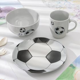 Набор посуды «Матч», 3 предмета, рисунок МИКС