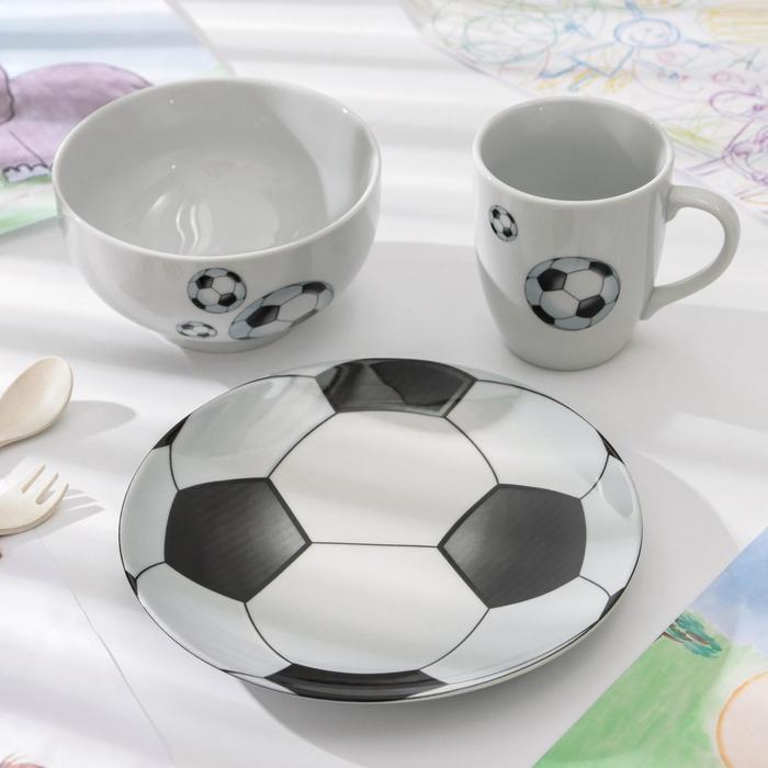 Набор посуды «Матч», 3 предмета, рисунок МИКС - фото 490608