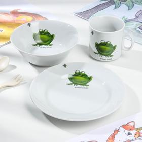 Набор посуды «Лягушка», 3 предмета
