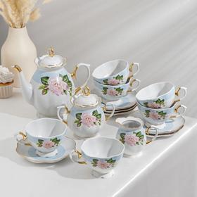 Сервиз чайный «Джульетта», 15 предметов, отводка золотом