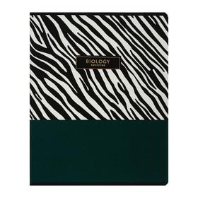 Тетрадь предметная Trendy graphic, 48 листов в клетку «Биология», обложка мелованный картон, ламинация Soft-touch, выборочный лак, со справочным материалом