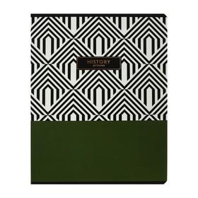 Тетрадь предметная Trendy graphic, 48 листов в клетку «История», обложка мелованный картон, ламинация Soft-touch, выборочный лак, со справочным материалом