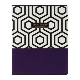 Тетрадь предметная Trendy graphic, 48 листов в клетку «Обществознание», обложка мелованный картон, ламинация Soft-touch, выборочный лак, со справочным материалом