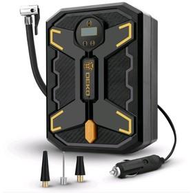 Компрессор автомобильный, цифровой, DEKO DKCP150Psi-LCD 12В, 25 л/мин, кабель 3 м, 5,6 атм, шланг 0.62 м, фонарь