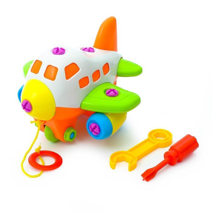 Конструктор для малышей «Самолёт», 33 детали