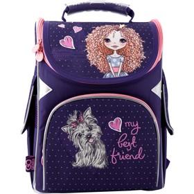 Ранец Стандарт GoPack 5001S, 34 х 26 х 13 см, для девочки, My best frend, фиолетовый