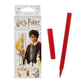 """Фломастеры 6 цветов """"Гарри Поттер"""", картонная коробка, европодвес"""