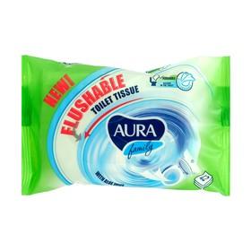 Влажная туалетная бумага «Aaura Family» big-pack 42шт, растворяется в воде