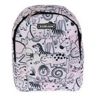 Рюкзачок детский Erich Krause EasyLine Mini, 25 х 20.5 х 11, Funny Animals, серый/розовый