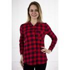Рубашка женская «Стиль», цвет красный, размер 56