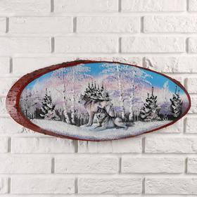 """Панно на спиле """"Стая"""", 60 см, каменная крошка, горизонтальное"""