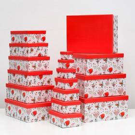 """Набор коробок 17 в 1 """"Зайцы"""", 43 х 34 х 15 - 8 х 5 х 5 см"""