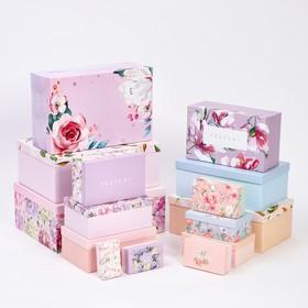 Набор коробок подарочных 15 в 1 «Цветочный сад», 12 х 7 х 4 см - 46,6 х 35,2 х 17.5 см