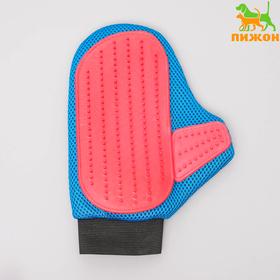 Расческа-щетка для шерсти с подвижным пальцем, микс цветов