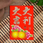 "Envelope for amulet red with gold ""Character, Happiness and Success"" 11,5x8,5 cm"