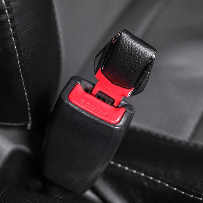 Заглушка ремня безопасности, усиленная, металлическая, хром - фото 234602