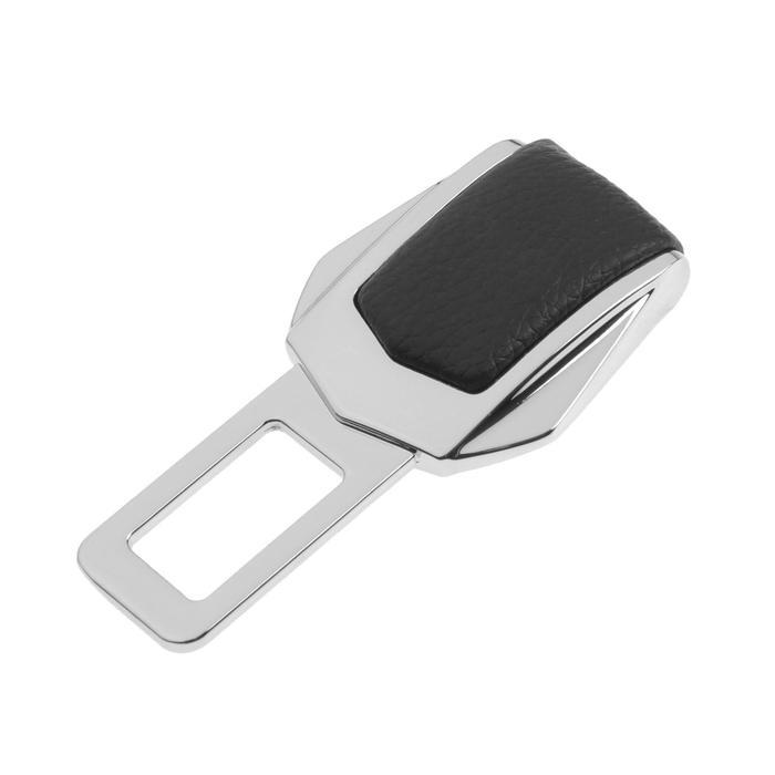 Заглушка ремня безопасности, усиленная, металлическая, хром - фото 234603