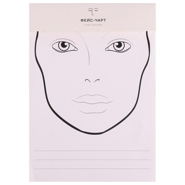 Трафарет для макияжа №1 21х34,7