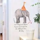 """Наклейка пластик интерьерная """"Слон, лисица и мышь"""" 50х70 см"""