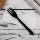 Set devices Premium 2 in 1, black fork and napkin white