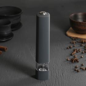 Spice mill electric 20.5 cm, plastic, acrylic, silicone