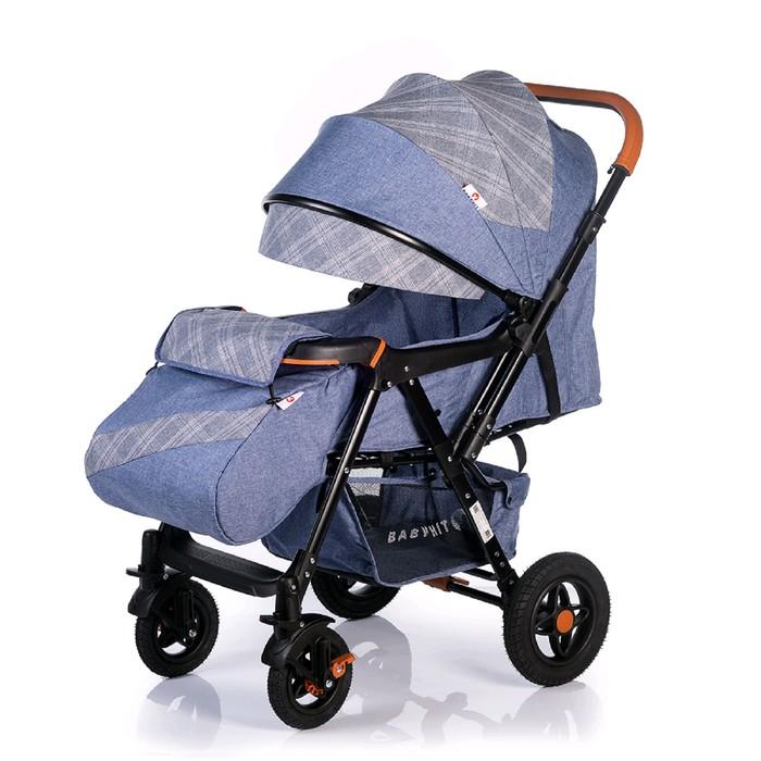 Прогулочная коляска с перекидной ручкой Sense Plus, цвет джинсовый с серым